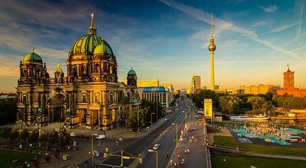 Stadtansicht von Berlin mit Alex